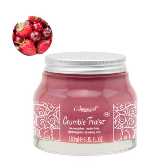 Bionatural Crumble Fraise - Cseresznyés, epres bio testradír